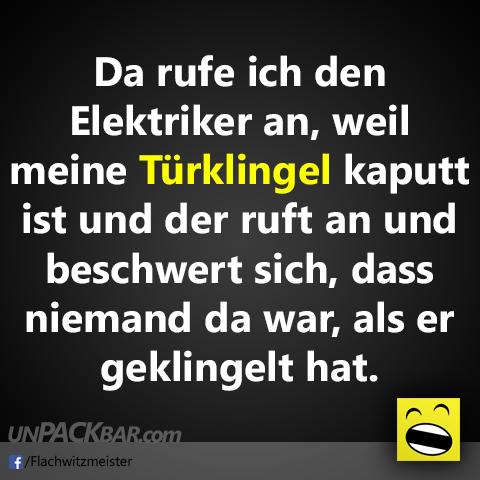 Klingel kaputt und Elektriker rufen | unpackbar.com
